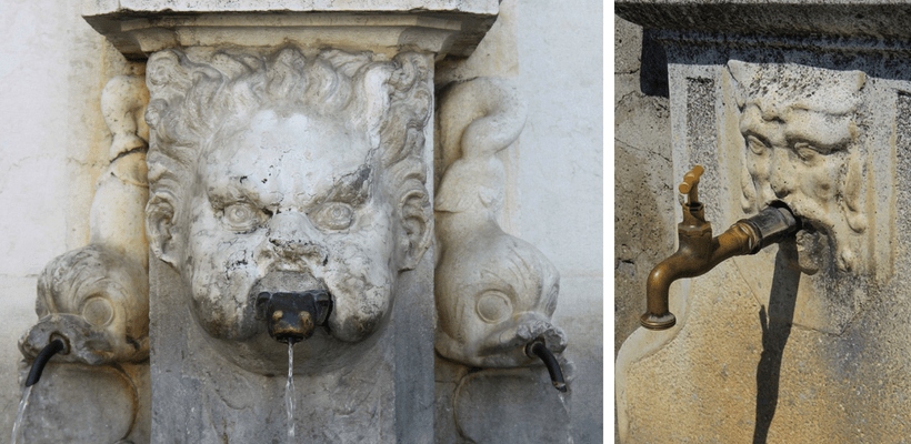 Wasserbrunnen in Italien