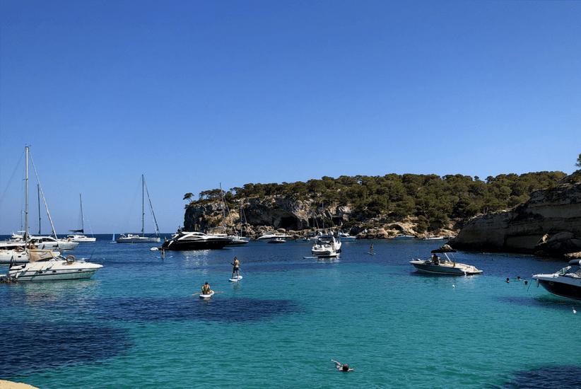 Blick von der Platja del Mago Mallorca