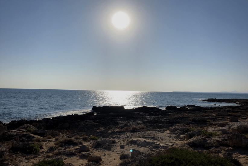 Sonnenuntergang im Süden von Mallorca
