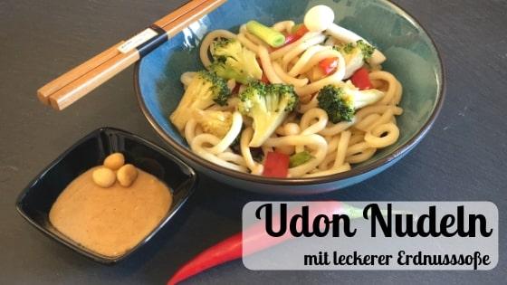 Udon Rezept mit Erdnusssoße
